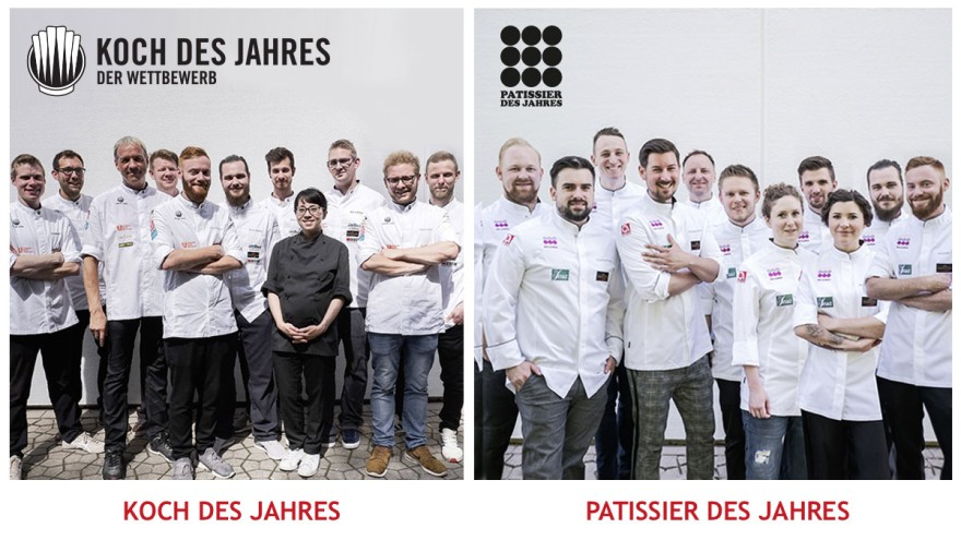The finalists of the competitions Chef of the Year & Patissier of the Year