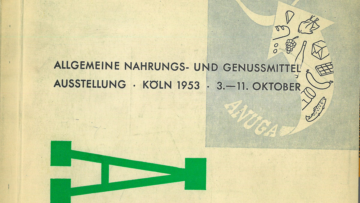 1953: Anuga divide the exhibition halls up in an industry-oriented manner