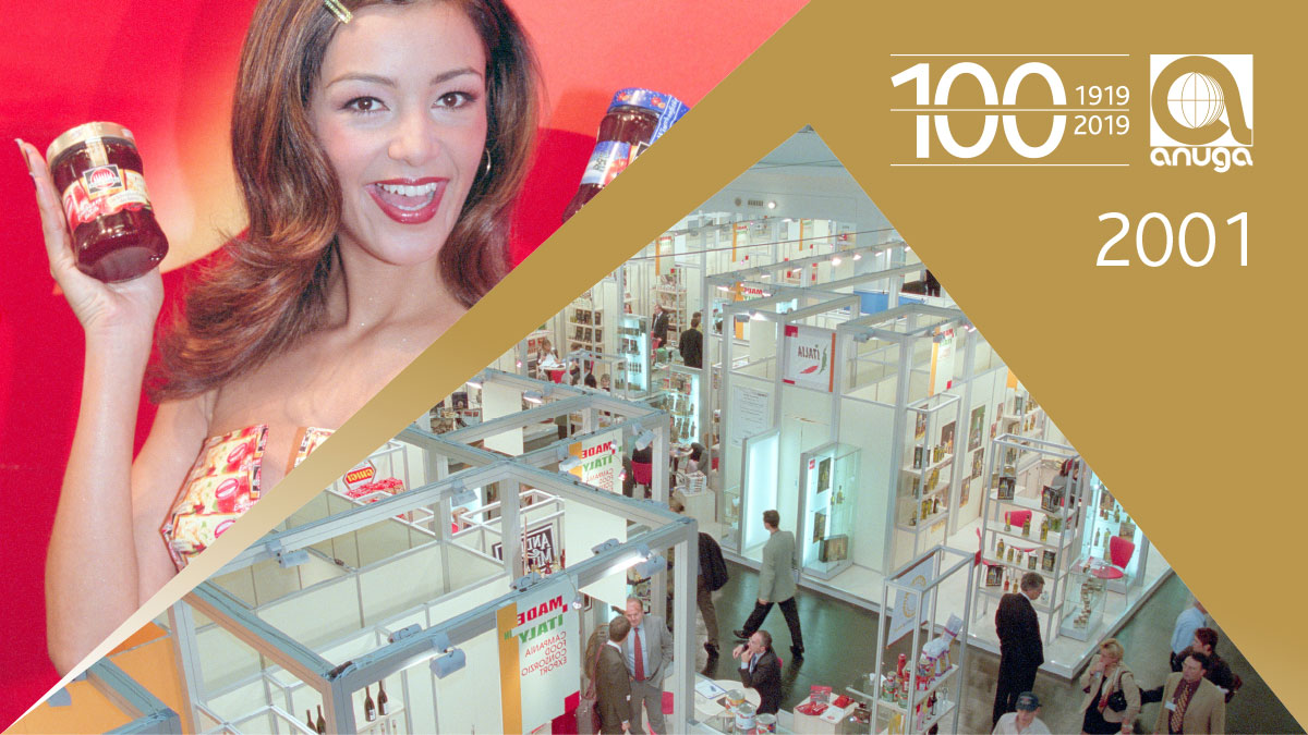 2001: 75 percent of the exhibitors came from abroad