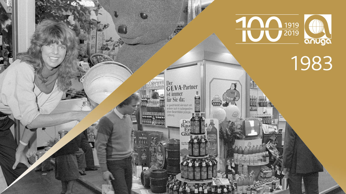1983: The European Association of the Health Food Manufacturers participated at Anuga for the first time