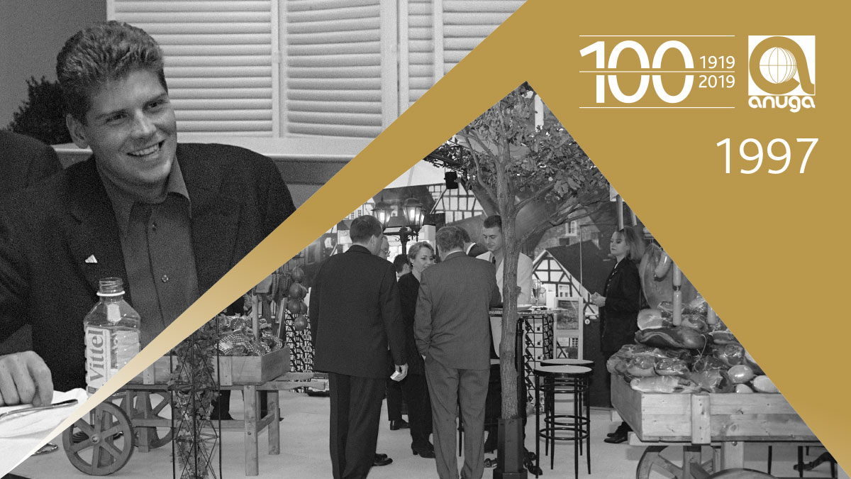 1997: The Federal Chancellor Dr. Kohl opened the Anuga for the 4th time