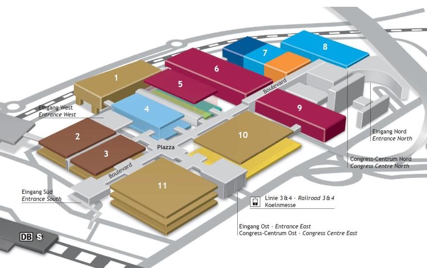 Hall plan Anuga