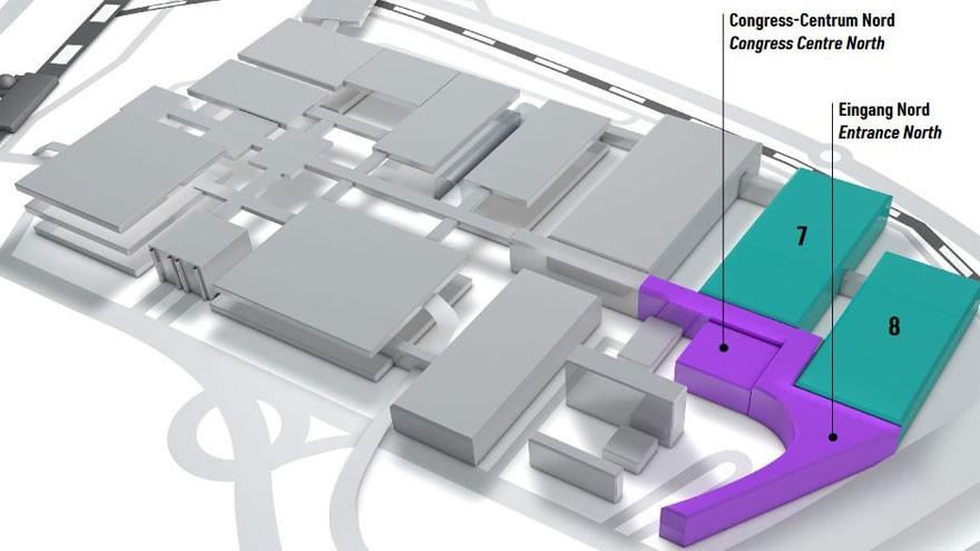 Hallen- und Geländeplan der CCXP COLOGNE