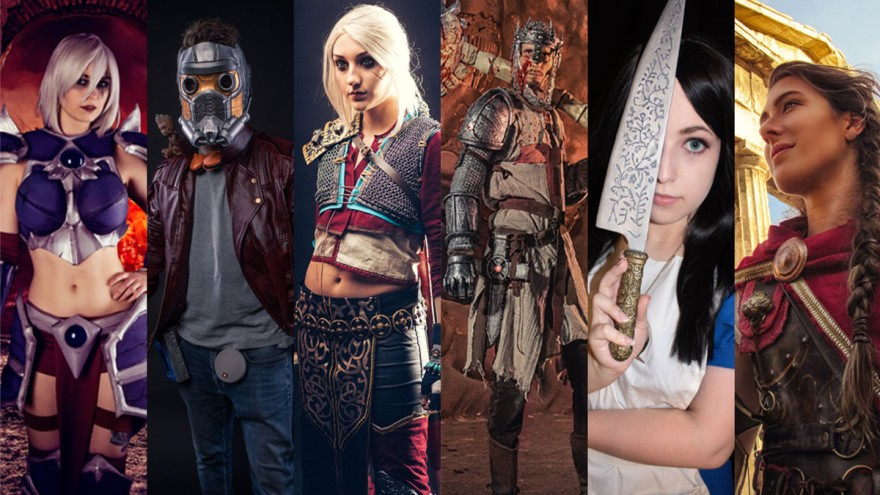 AimuCosplay, Leora, Michele Cosplay, Sir Highlord, Narya und Reym3D