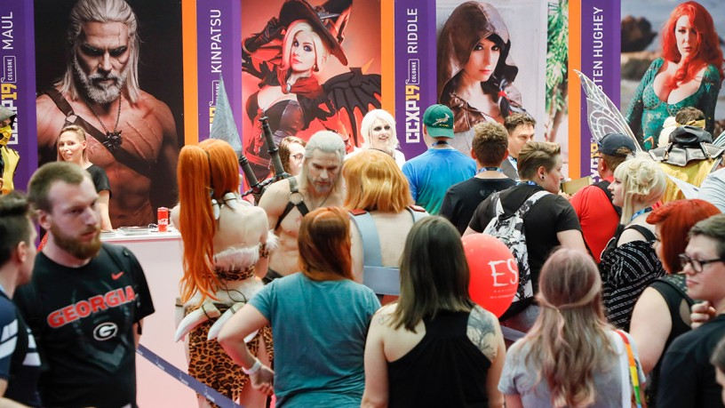 Internationale Cosplayer auf der CCXP COLOGNE