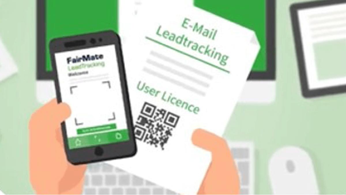Leadtracking Scan der Nutzungslizenz