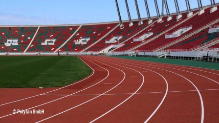 Polytan track in a stadium in Morocco