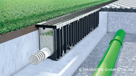 Drainage system Sportfix®Clean from Hauraton against water pollution