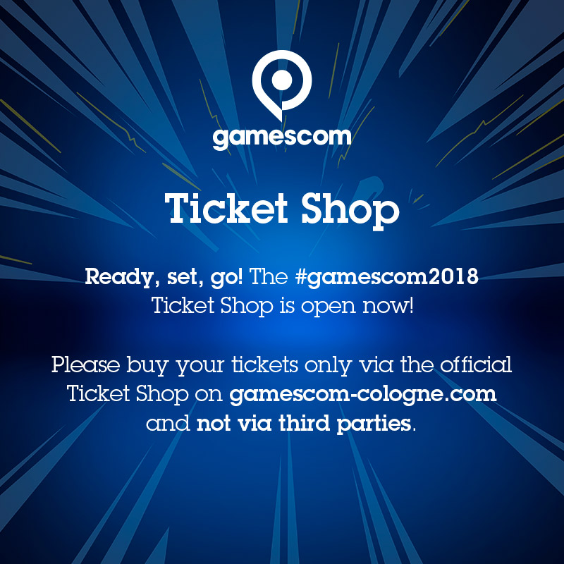 Safe and easy: buy gamescom tickets at the official ticket shop now