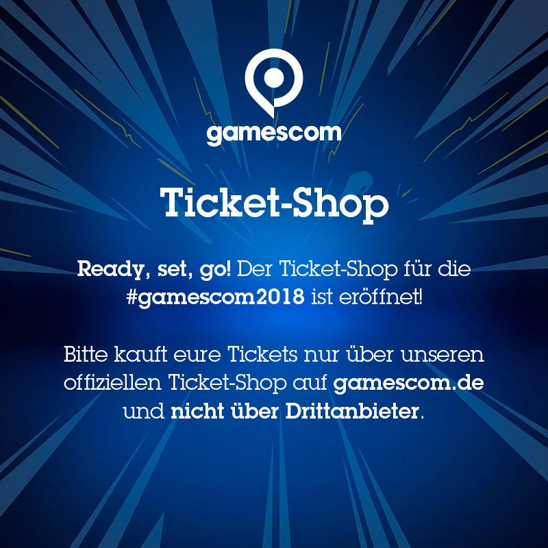 #gamescom-Tickets sicher und problemlos in unserem offiziellen Ticket-Shop kaufen