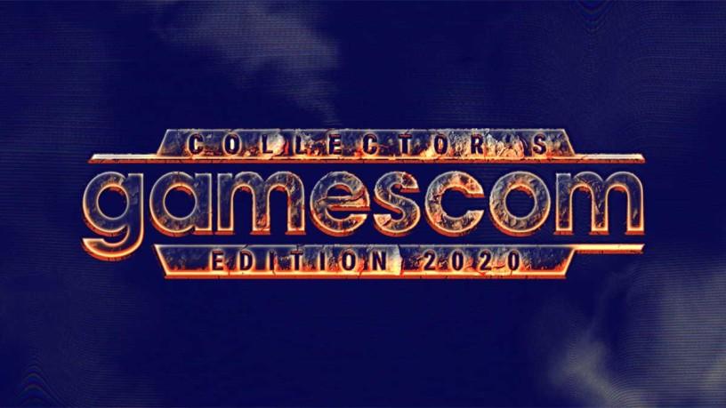 Schriftzug gamescom in Flammendesign
