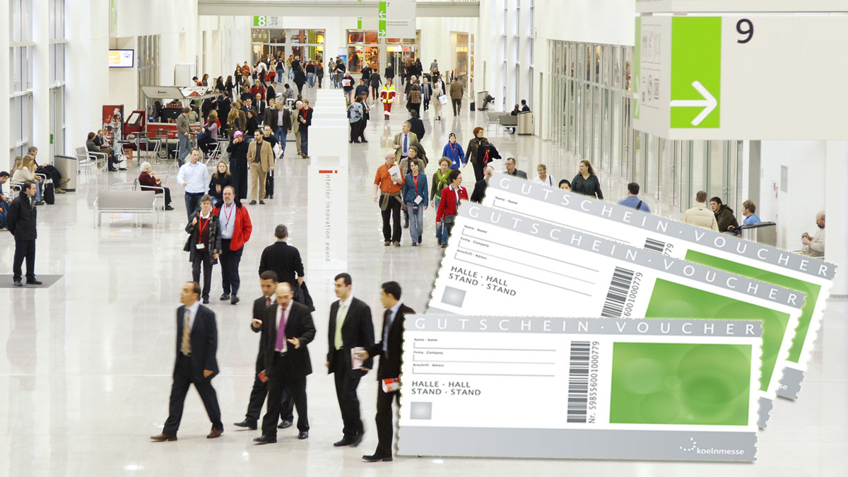 Koelnmesse admission ticket voucers