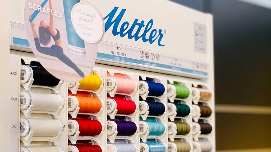 Verkaufsaufsteller von Mettler - Der perfekte Nähfaden