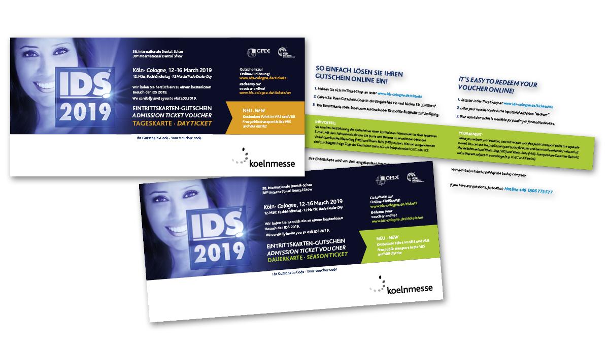 Eintrittskarten-Gutschein und Eintrittskarten-Gutschein-Codes IDS