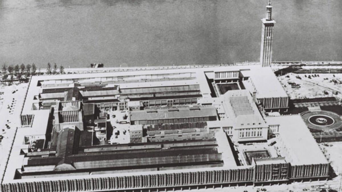 1930 – Luftaufnahme des Messegeländes
