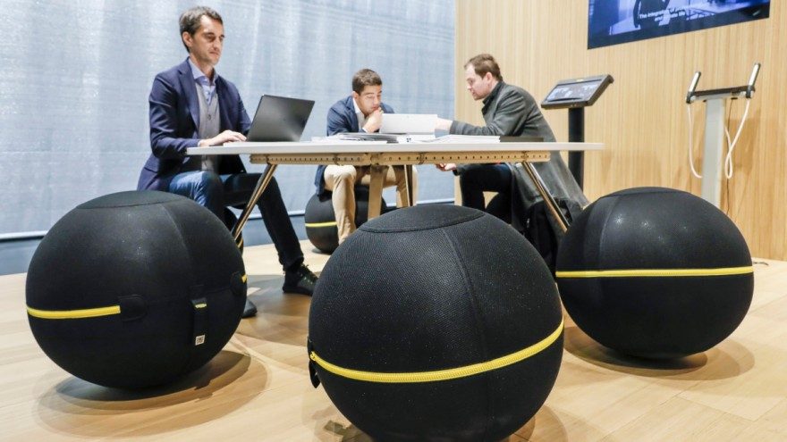 Furniture from fitness equipment manufacturer Technogym at ORGATEC