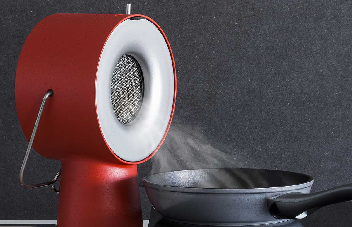 Winner of the Pure Talents Contest - LivingKitchen Selection 2019 of imm cologne anf LivingKitchen: The Portable Kitchen Hood by Maxime Gugay