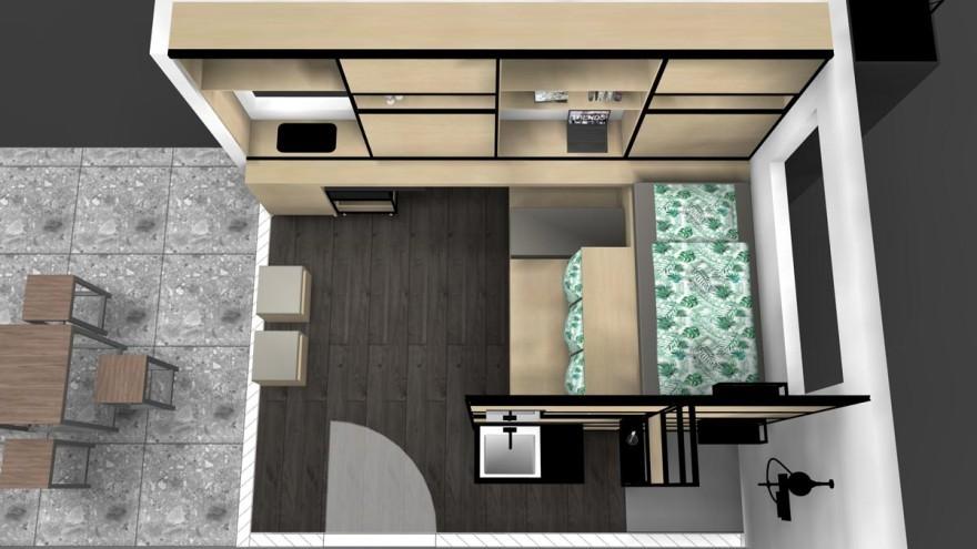 Microapartments with smart interior design