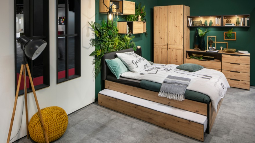 The NXTstebedroom furniture by Möbel Rudolf
