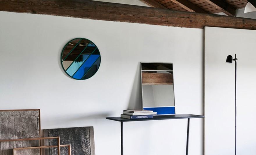 Four different mirrors of designer Inga Sempé