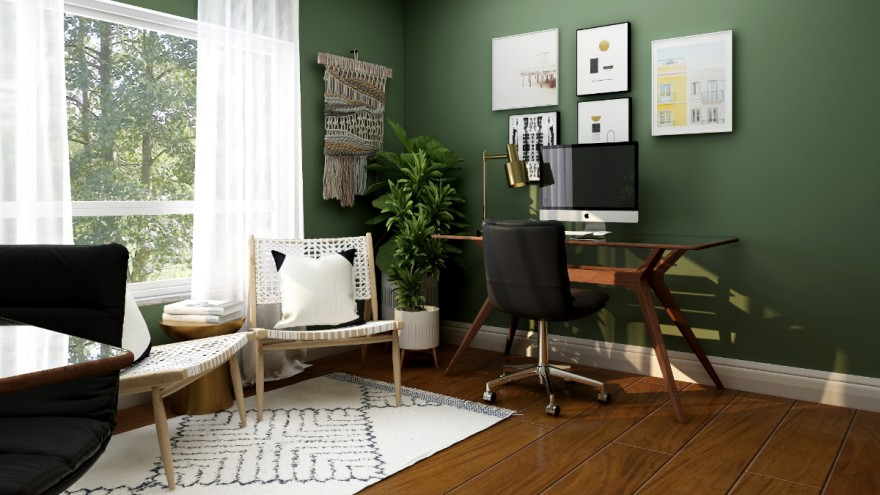 Changing forms of living: home office in the living room