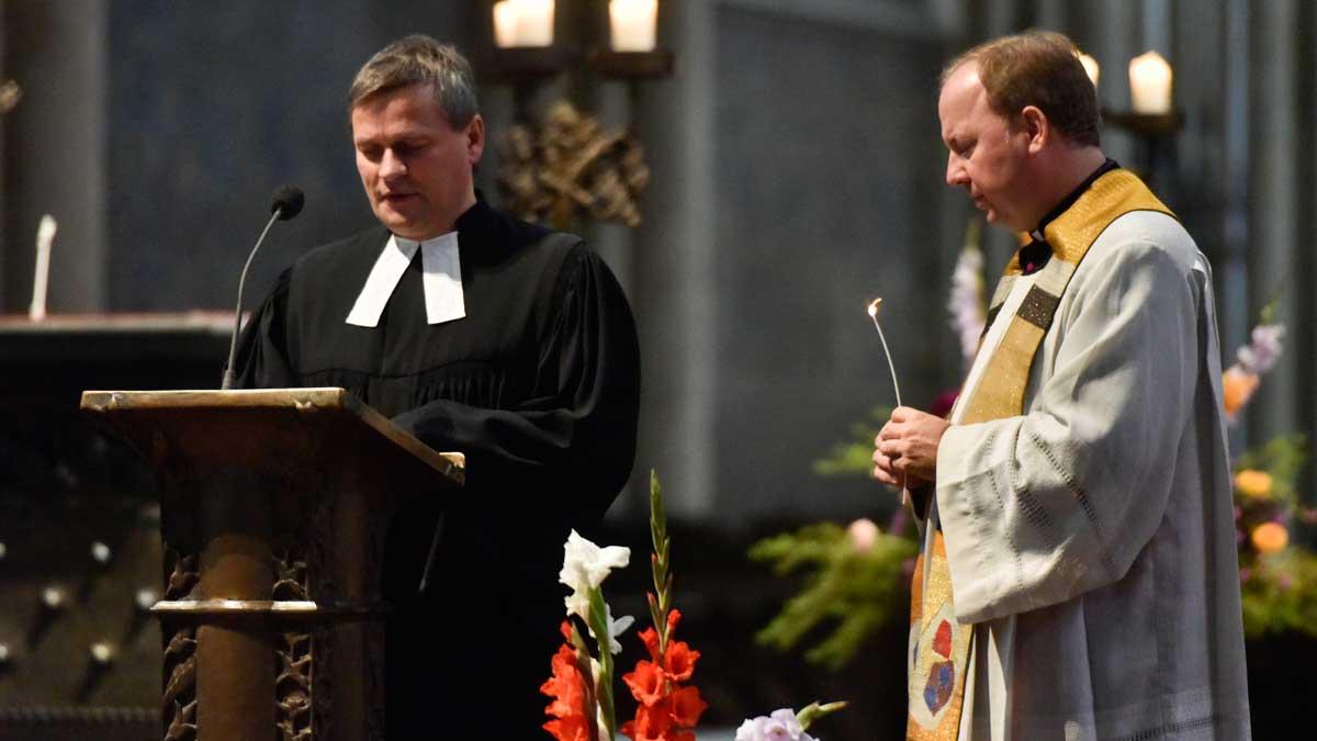 Pastor Lars Lemke und Monsignore Robert Kleine