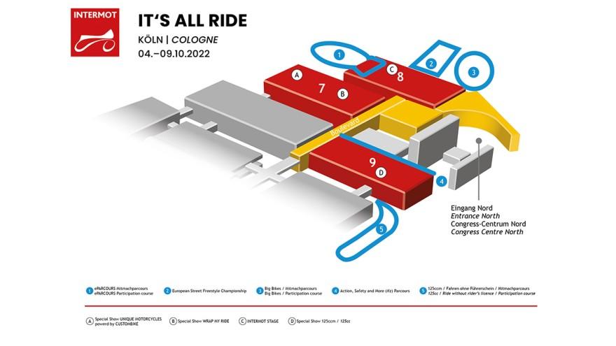 Bild vom Hallenplan der INTERMOT