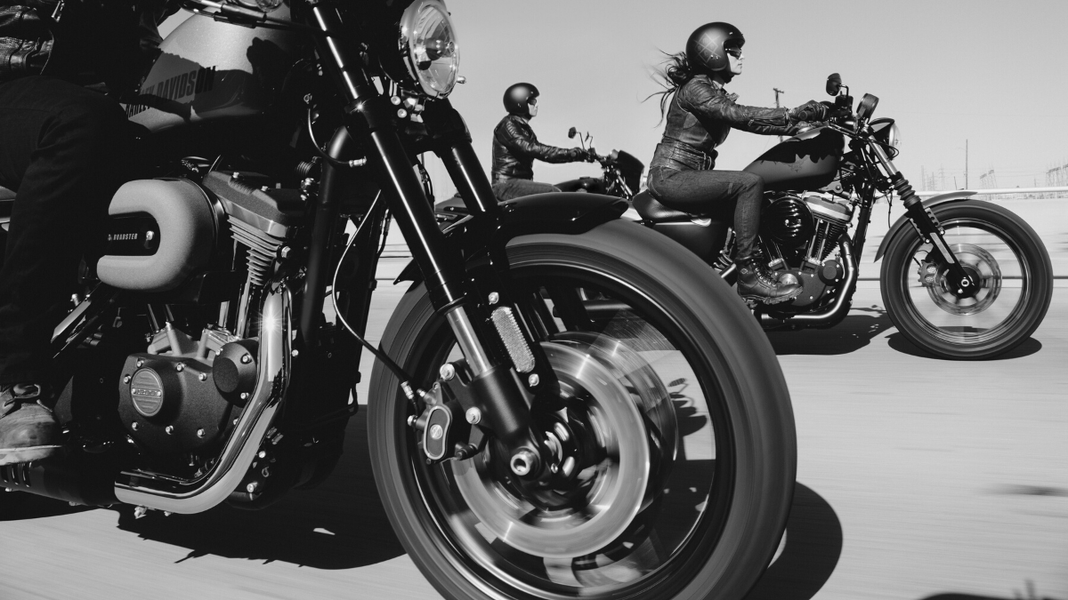 Biker feeling up close - legendary cult movies