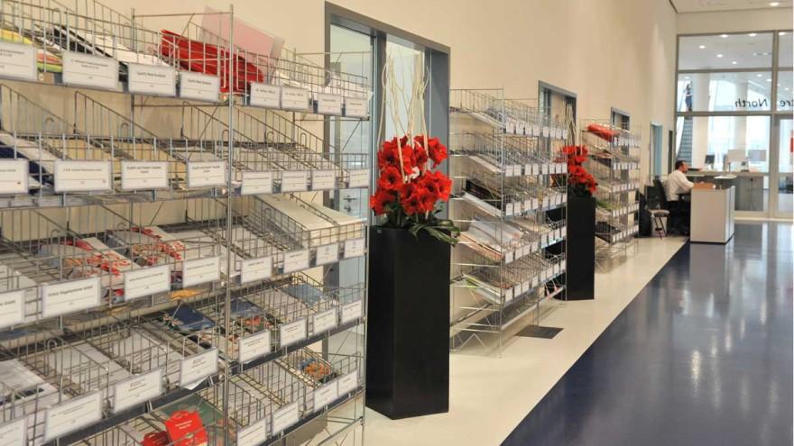 Press compartments for exhibitors at interzum