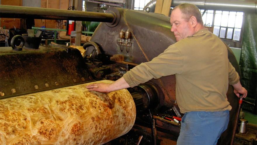 So wird Furnier hergestellt