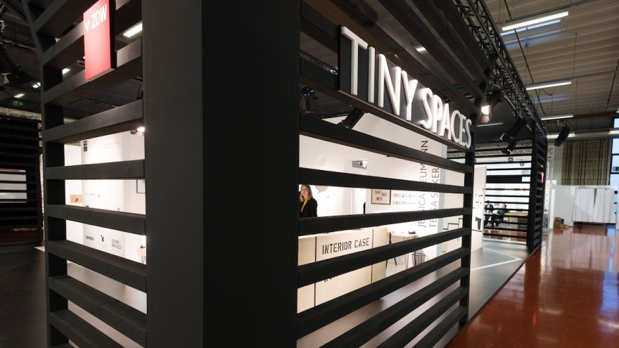 """Special exhibition """"Tiny Spaces"""" at ZOW 2018, © Koelnmesse"""