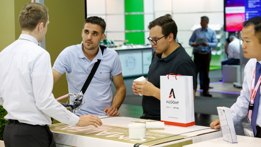 Visitors at interzum