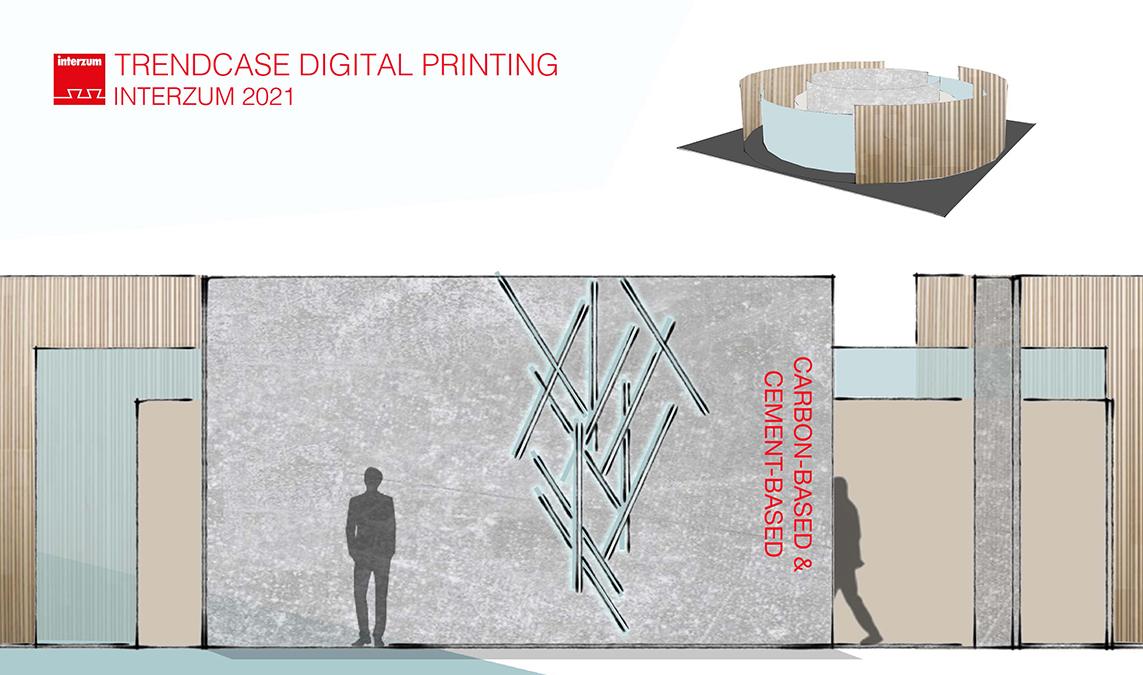 Carbon-based und cement-based - Digital Printing at interzum 2021