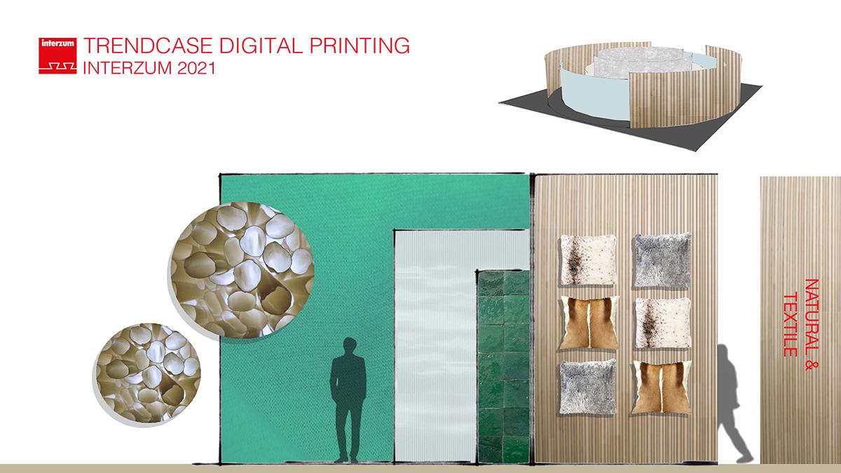 Nature and textile - Digital Printing at interzum 2021
