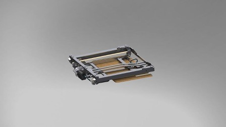 Compact footrest with toothed belt drive
