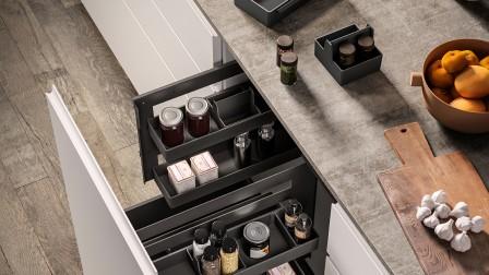 Sous-Chef Organisationssystem für Küchenschränke mit Auszug