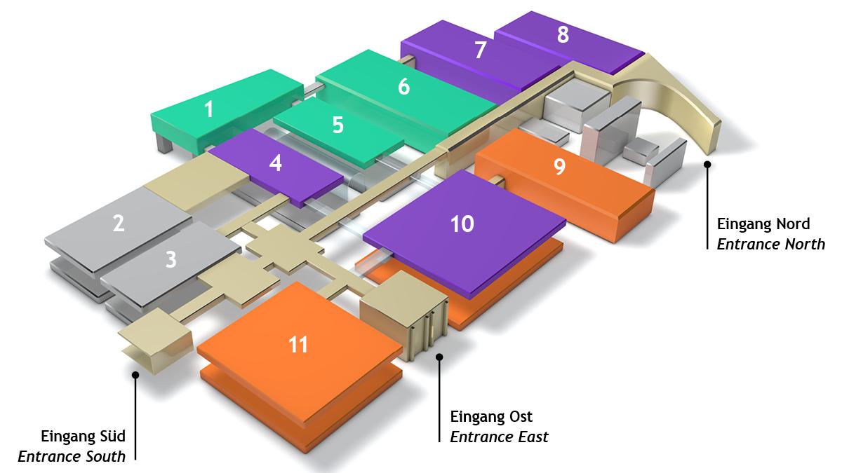 Hall and site plan interzum 2023