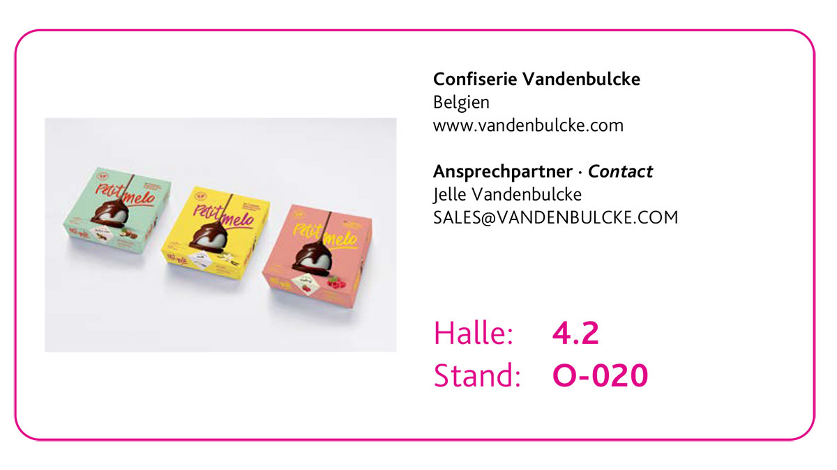 Drei Top Innovationen des New Product Showcase 2020: 2. Platz Confiserie Vandenbulcke – Petit Melo