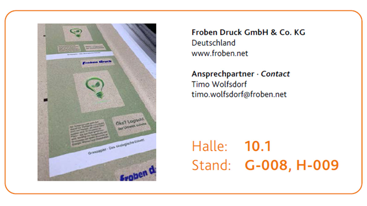 Sonderpreis Packaging Award geht an Froben Druck GmbH & Co. KG – Etiketten aus Graspapier