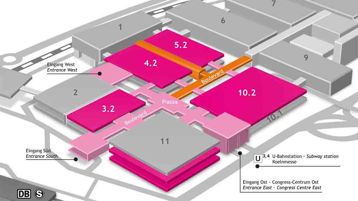 Hallenplan der ISM