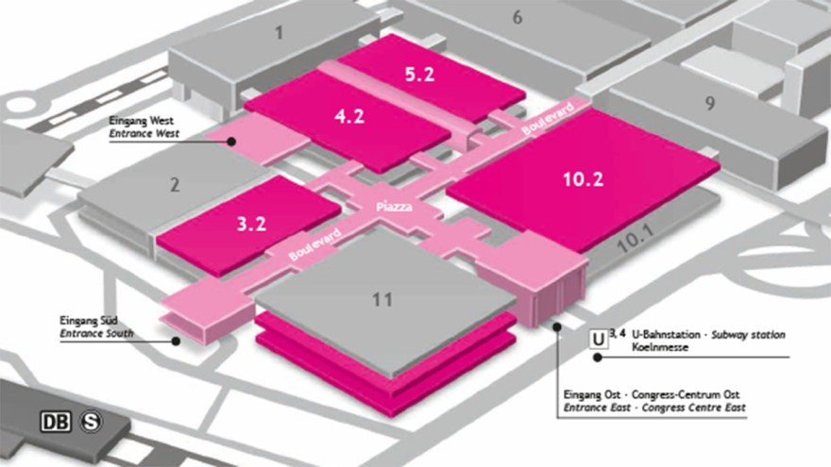 Hallen- und Gelaendeplan der ISM
