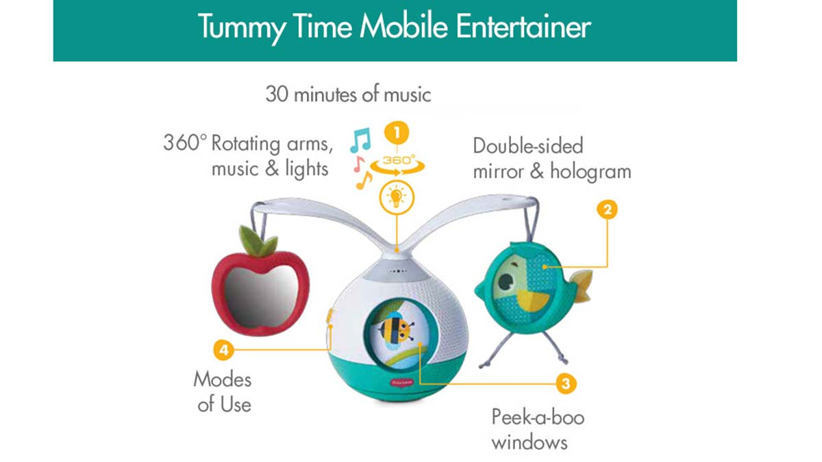 Dorel Juvenile (Maxi Miliaan B.V.), Tummy Time Mobile Entertainer - Tiny Love
