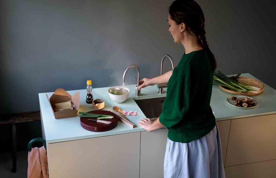 Eye-catching kitchen taps