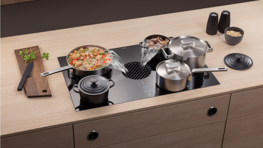 BORA X Pure with bridge function for large cooking pots and roasting pans
