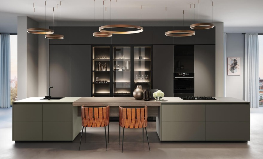 Dusty Colours create a pleasant atmosphere in the kitchen