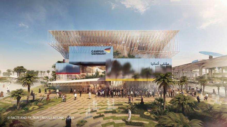 Noch Fantasie, bald Realtät: Der Deutsche Pavillon auf der Expo 2021 in Dubai. Mit dabei: Junge Perspektiven auf Nachhaltigkeit