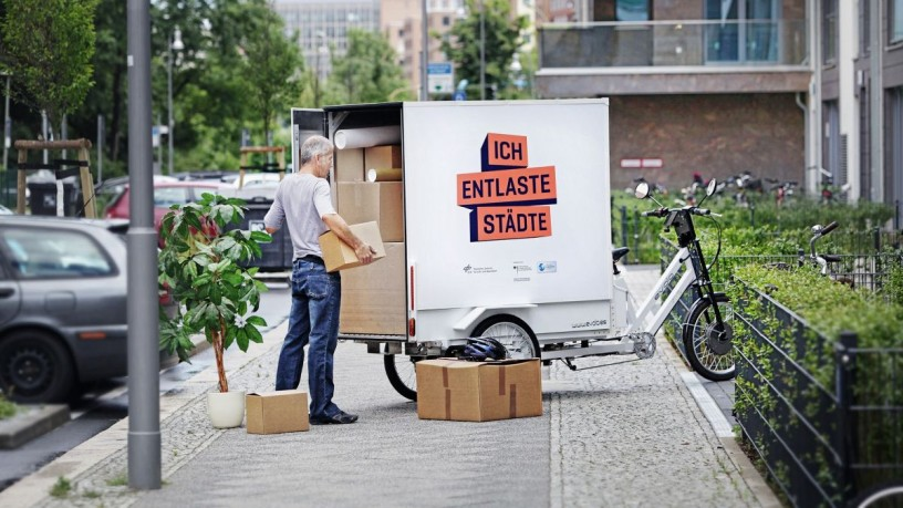 Cargo bikes also offer a lot of storage space. © DLR