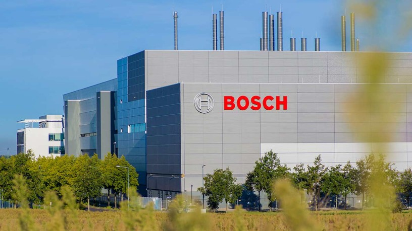 The Bosch chip factory to be opened in July 2021 in the north of Dresden. © Bosch