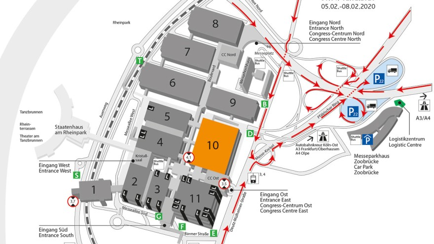 Traffic guidelines and traffic routeing plan of ProSweets Cologne