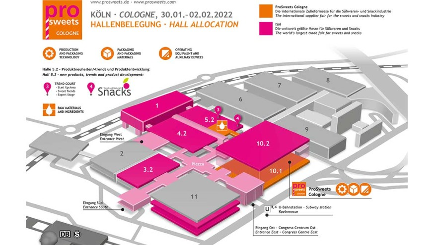 hall and site plan ProSweets 2022